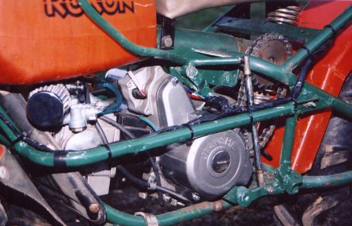 Jianshe/Honda 110 engine swap to Rokon